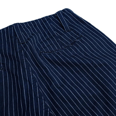 Pure Blue Japan Indigo Pinstripe Pants - Okayama Denim Pants - Selvedge