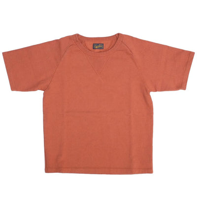Japan Blue 18 Gauge Super Heavy Inlay Sweat Raglan Tee (Orange) - Okayama Denim T-Shirts - Selvedge