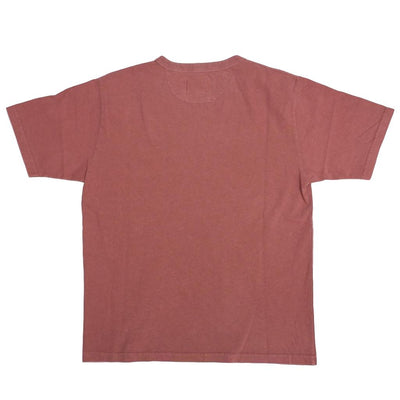Japan Blue Natural Organic Dyed Tee (Red) - Okayama Denim T-Shirts - Selvedge