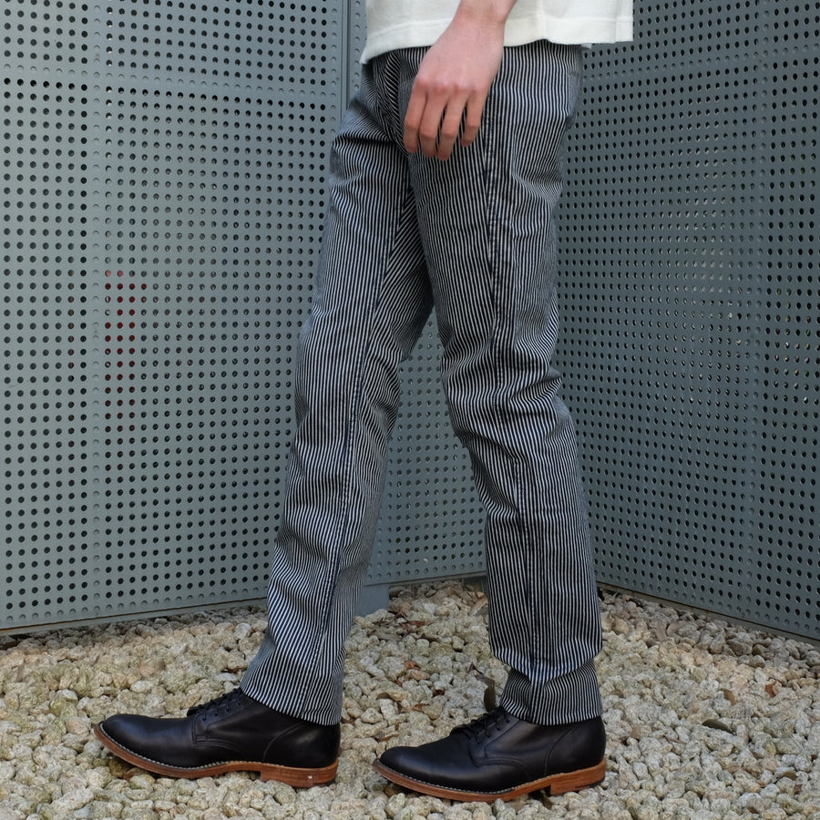 Pure Blue Japan Indigo Hickory Pants - Okayama Denim Pants - Selvedge