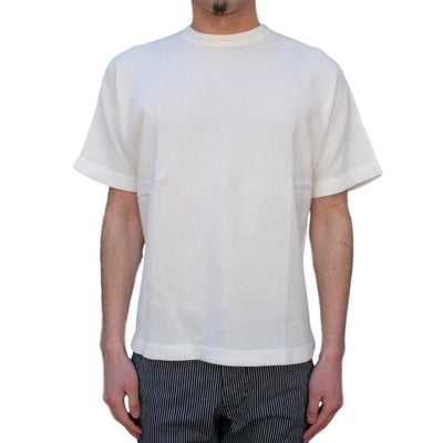 Loop & Weft Military Rib Knit Dolman Sleeve Tee (White) - Okayama Denim T-Shirts - Selvedge