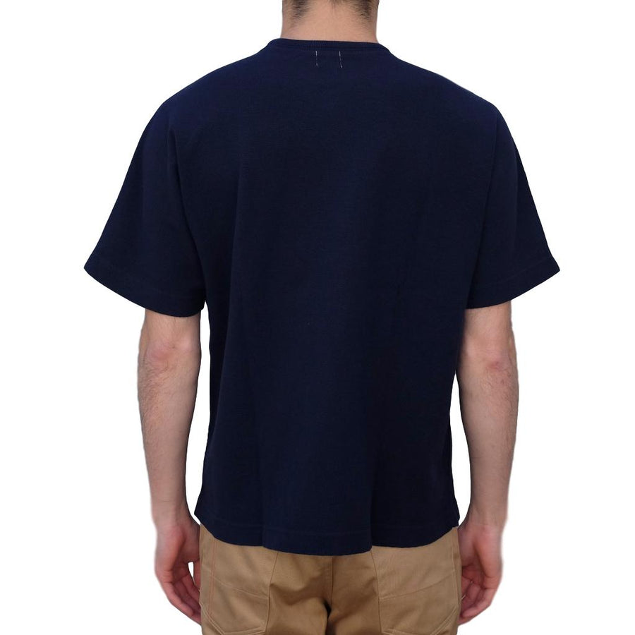 Loop & Weft Military Rib Knit Dolman Sleeve Tee (Navy) - Okayama Denim T-Shirts - Selvedge