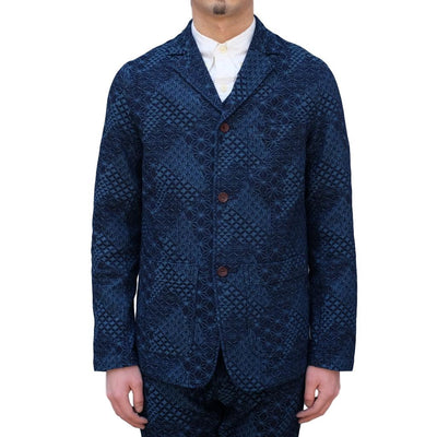 "Studio D'Artisan ""Kiriko Denim"" Tailored Jacket - Okayama Denim Jacket - Selvedge"