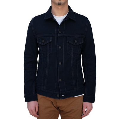 Pure Blue Japan Type III Black Sashiko Selvedge Jacket - Okayama Denim Jacket - Selvedge