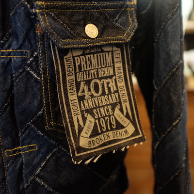 "Studio D'Artisan SP-054 40th Anniversary ""Arts"" Type 1 Denim Jacket - Okayama Denim Jacket - Selvedge"