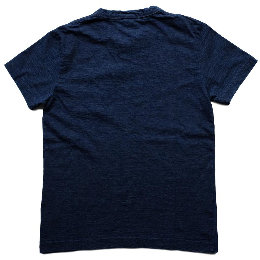 Pure Blue Japan Indigo Dyed Flight Pocket Tee - Okayama Denim T-Shirts - Selvedge