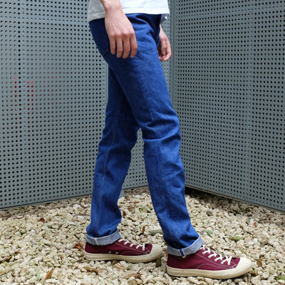 "Pure Blue Japan BRT-013 14.5oz. ""Bright Blue"" Selvedge Jeans (Slim Tapered)"
