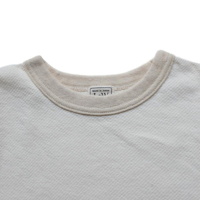 Loop & Weft Twill Face Knit Military Crewneck Tee (Ivory)