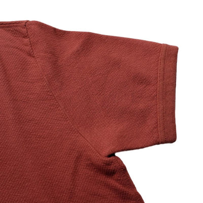 Loop & Weft Twill Face Knit Military Crewneck Tee (Dark Cherry)