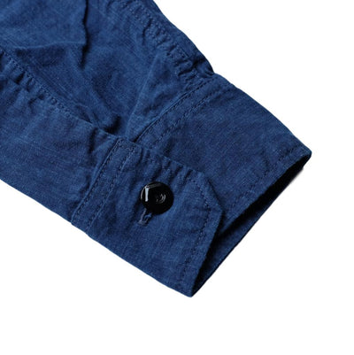 Pure Blue Japan 6oz. Double Natural Indigo Selvedge Chambray Work Shirt