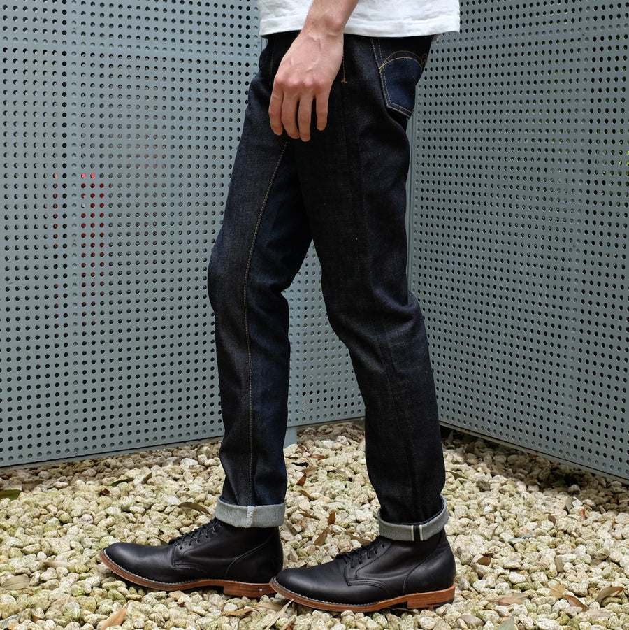 "Studio D'Artisan ""Five Continents"" Selvedge Jeans (Relax Tapered)"