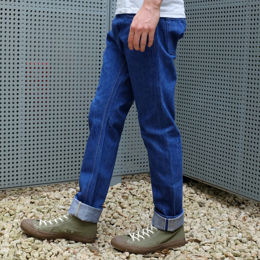 "Pure Blue Japan BRT-019 14.5oz. ""Bright Blue"" Selvedge Jeans (Relaxed Tapered)"