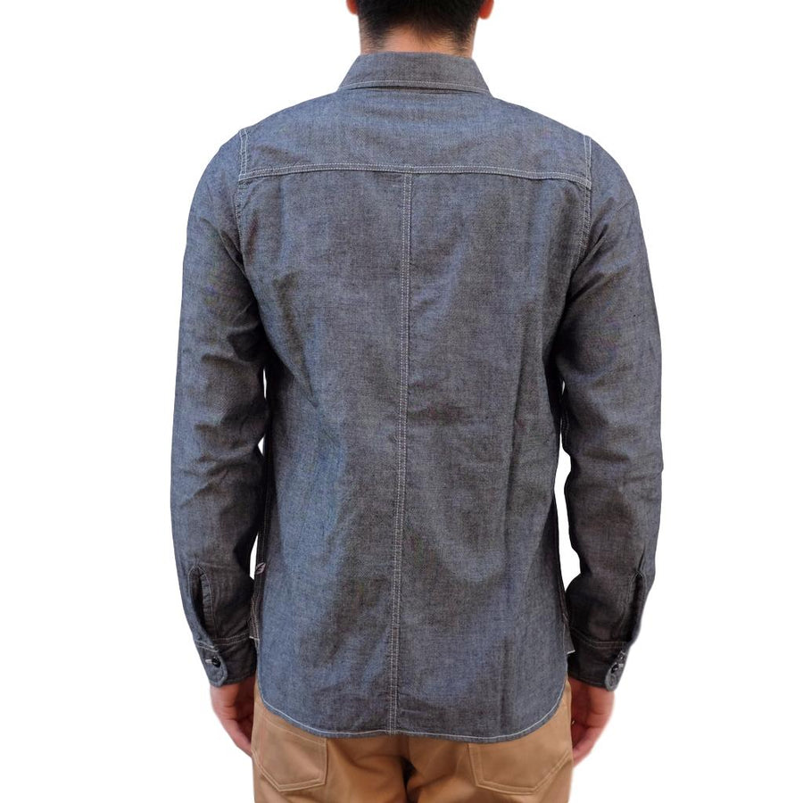 Pure Blue Japan 6oz. Selvedge Chambray Work Shirt