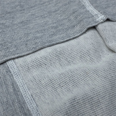 Loop & Weft British Military Rib Knit Henley (Gray)