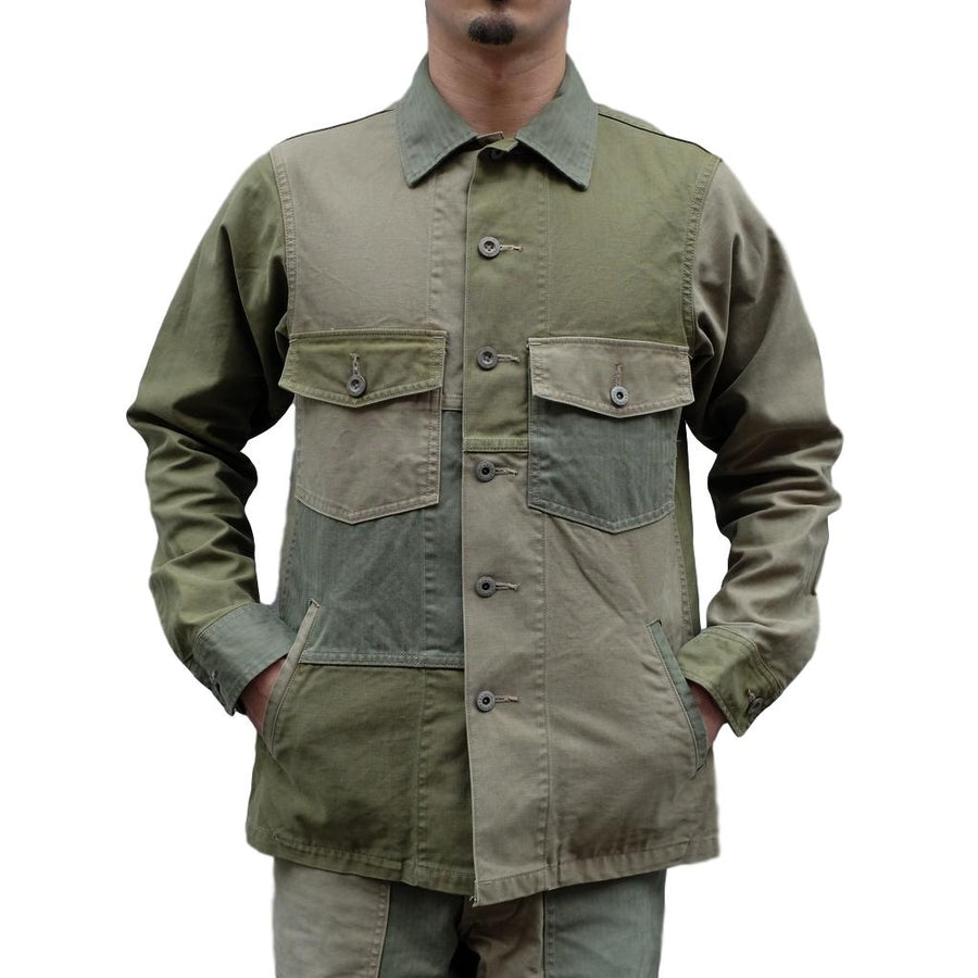 Studio D'Artisan 4494 Patchwork Military Surplus Jacket