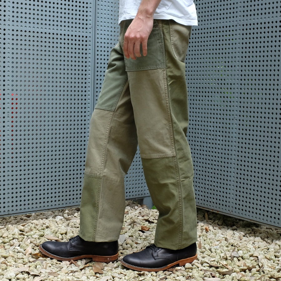 Studio D'Artisan 1819 Patchwork Military Surplus Pants