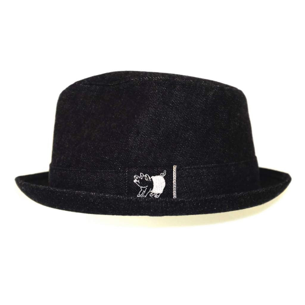 Studio D'Artisan Selvedge Denim Fedora Hat