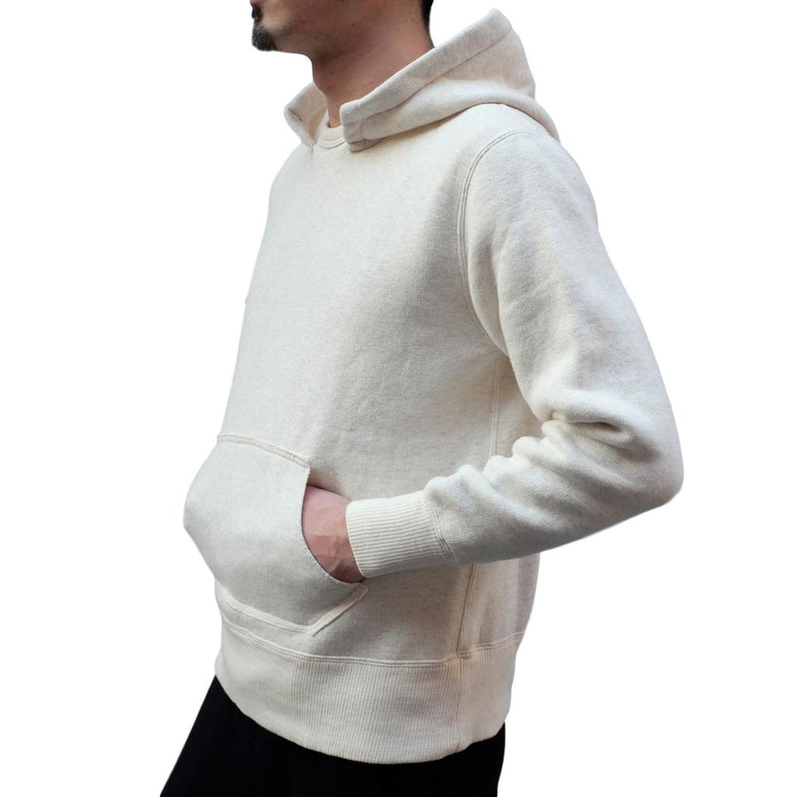 Loop & Weft Tompkins Knit Hooded Sweatshirt (Oatmeal) - Okayama Denim Sweatshirt - Selvedge