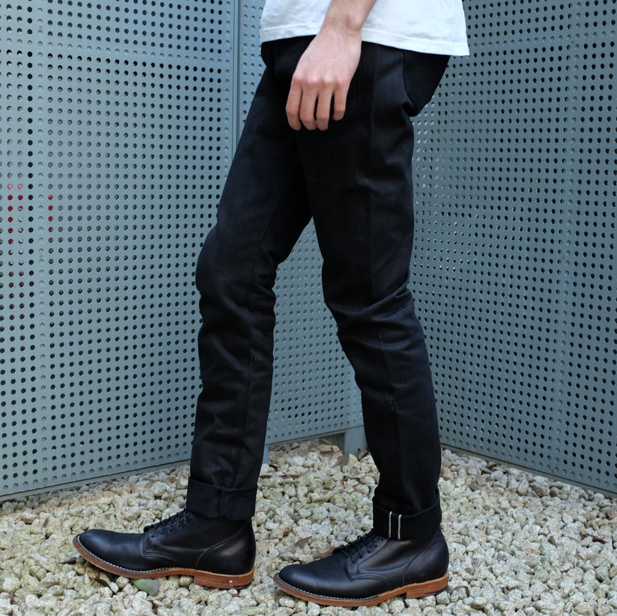 "OD+SJ 17oz. ""Kuro"" Black x Black Selvedge Jeans (Comfort Tapered)"
