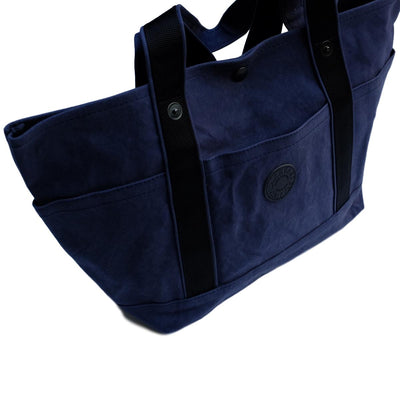 Takeyari Canvas Regular Tote Bag (Navy) - Okayama Denim Accessories - Selvedge