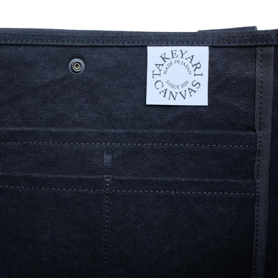 Takeyari Canvas Large Tote Bag (Black) - Okayama Denim Accessories - Selvedge