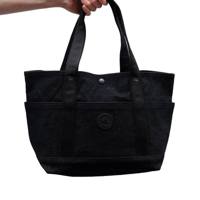 Takeyari Canvas Regular Tote Bag (Black) - Okayama Denim Accessories - Selvedge