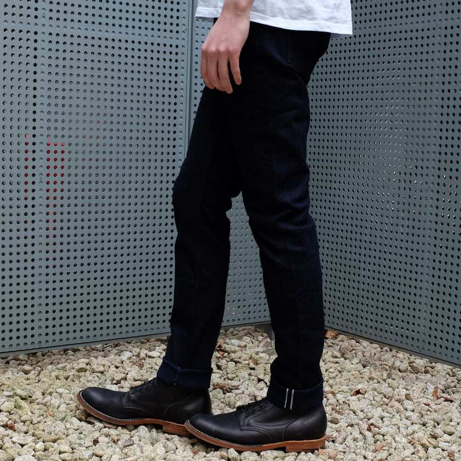 Pure Blue Japan 12oz. Deep Indigo Stretch Selvedge Jeans (Slim Tapered) - Okayama Denim Jeans - Selvedge