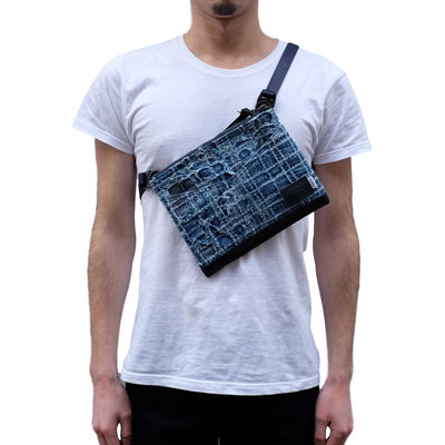 FDMTL x Masterpiece Japan Boro Sashiko Shoulder Bag - Okayama Denim Accessories - Selvedge