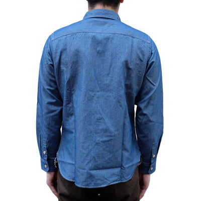 "Studio D'Artisan ""Origami"" Chambray Work Shirt - Okayama Denim Shirt - Selvedge"