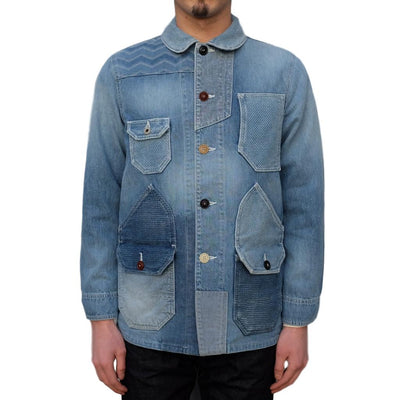 "FDMTL ""3 Year Wash"" Indigo Patchwork Coverall - Okayama Denim Jacket - Selvedge"