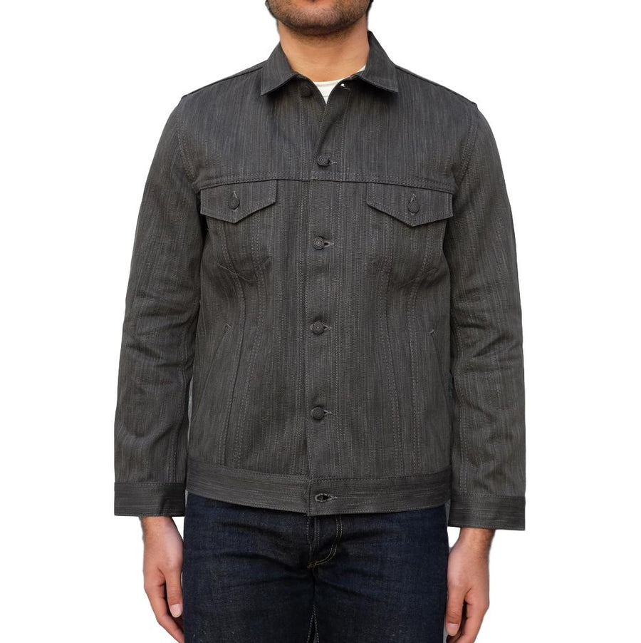 Pure Blue Japan Natural Sumi x Indigo Type III Selvedge Jacket - Okayama Denim Jacket - Selvedge