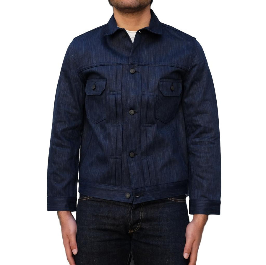 Pure Blue Japan Natural Indigo x Sumi Type II Selvedge Jacket (One Wash) - Okayama Denim Jacket - Selvedge