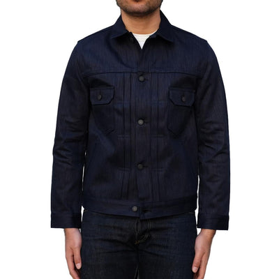 Pure Blue Japan Double Natural Indigo Type II Selvedge Jacket - Okayama Denim Jacket - Selvedge