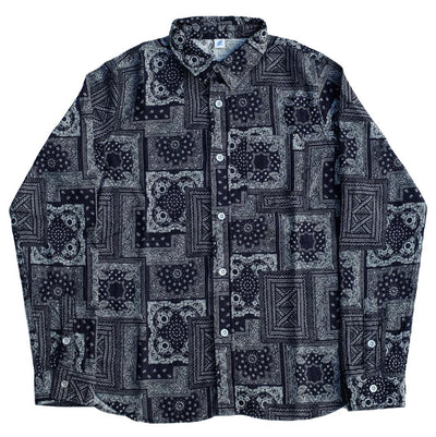 Pure Blue Japan Indigo Bandana Jacquard Shirt - Okayama Denim Shirt - Selvedge