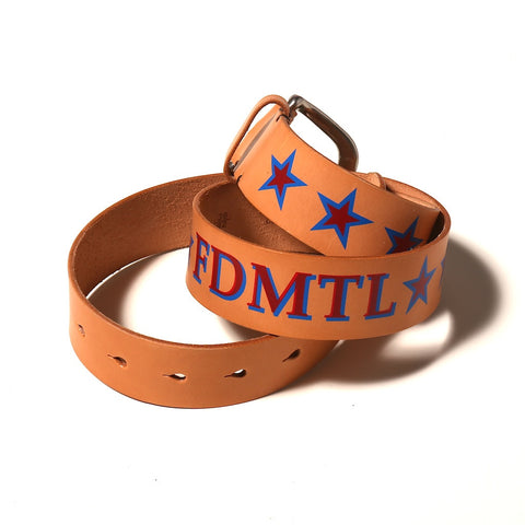 FDMTL Star Leather Belt - Okayama Denim Accessories - Selvedge