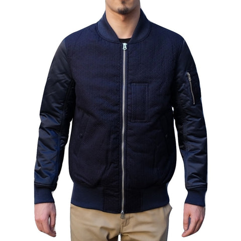 FDMTL Indigo Sashiko MA-1 Flight Jacket
