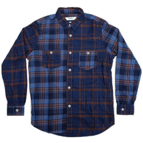 FDMTL Indigo Check Multi Pattern Shirt