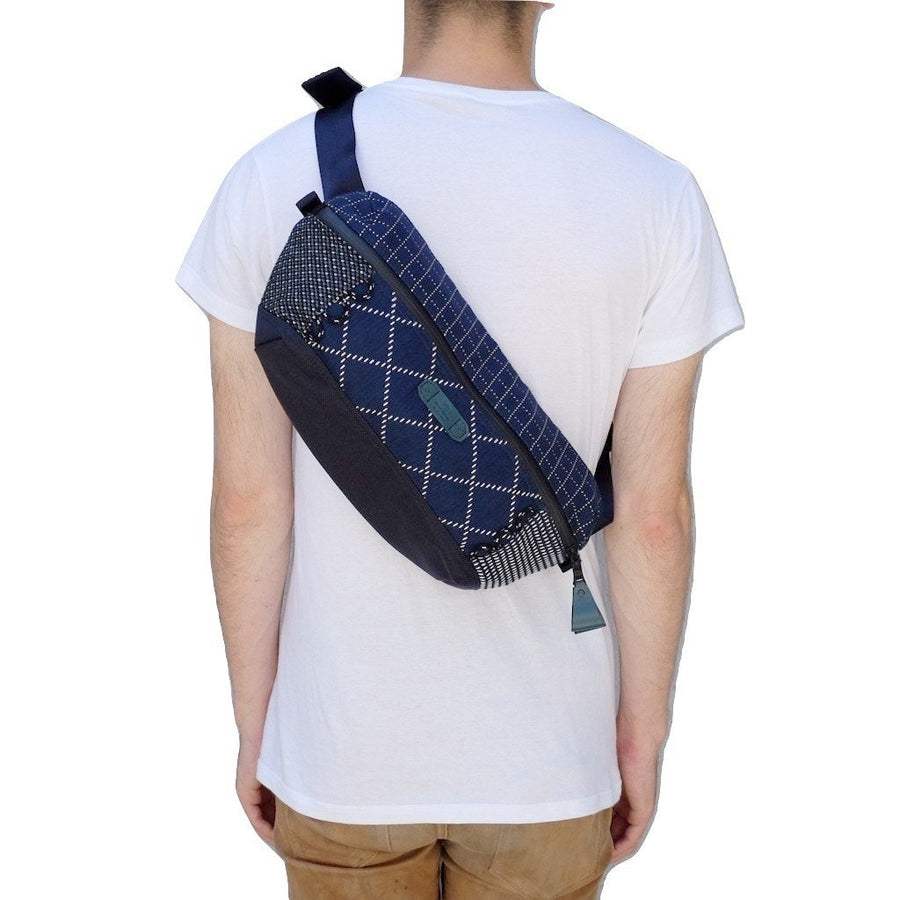 FDMTL x Masterpiece Japan Sashiko Patchwork Shoulder Crossbody Bag - Okayama Denim Accessories - Selvedge