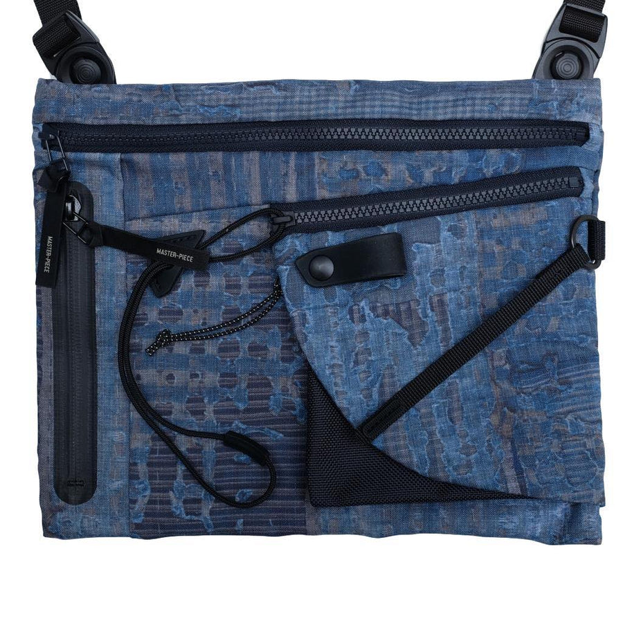 FDMTL x Masterpiece Japan Boro Print Shoulder Bag - Okayama Denim Accessories - Selvedge