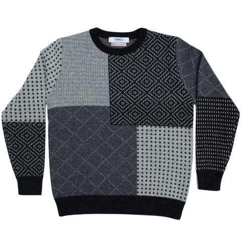 FDMTL Wool Boro Crewneck Sweater
