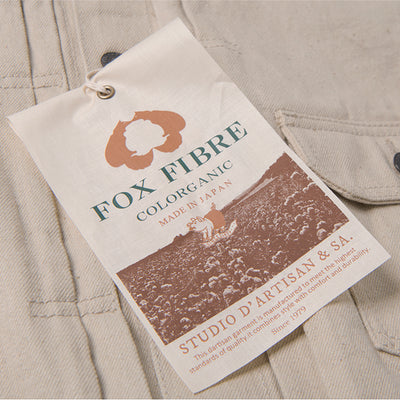 Studio D'Artisan 15oz. Foxfibre® Organic Roadrunner Color Selvedge Jacket - Okayama Denim Jacket - Selvedge