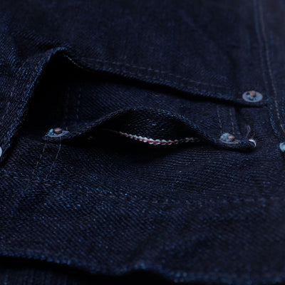 "Fullcount 1101SRB ""Super Rough"" Indigo x Black Selvedge Jeans (Middle Straight) - Okayama Denim Jeans - Selvedge"