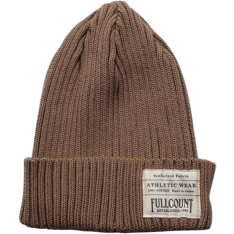 Fullcount Ribbed Watch Cap (Beige) - Okayama Denim Accessories - Selvedge
