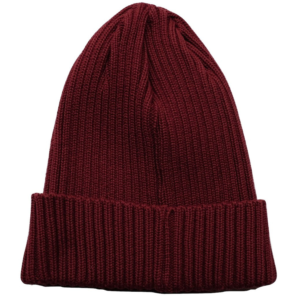 Fullcount Ribbed Watch Cap (Burgundy) - Okayama Denim Accessories - Selvedge