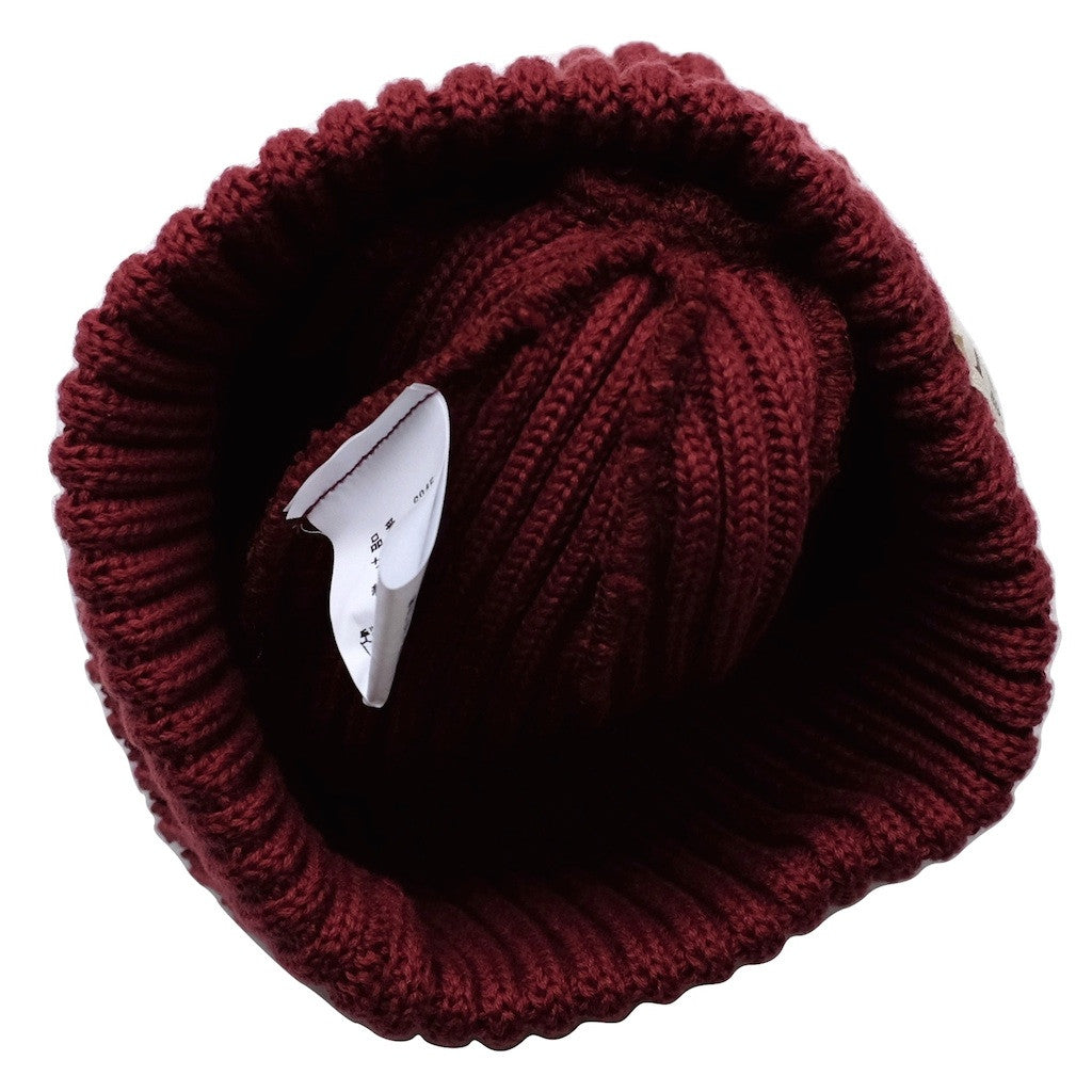 Fullcount Ribbed Watch Cap (Burgundy)