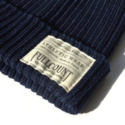 Fullcount Indigo Dyed Ribbed Watch Cap - Okayama Denim Accessories - Selvedge