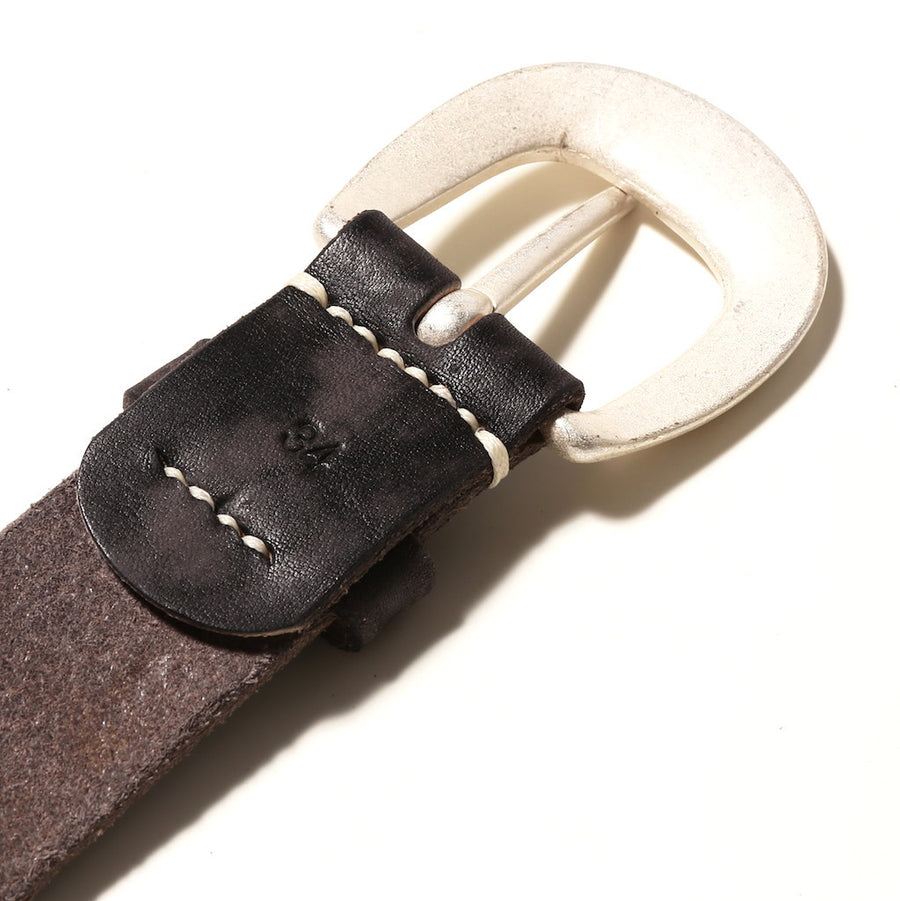 Fullcount 6210 Leather Belt (Black) - Okayama Denim Accessories - Selvedge