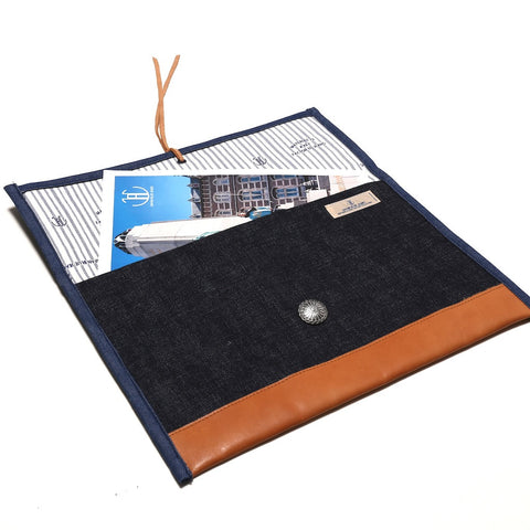 Japan Blue Raw Denim Clutch - Okayama Denim Accessories - Selvedge