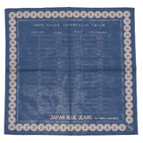 Japan Blue Yarn Count Bandanna - Okayama Denim Accessories - Selvedge