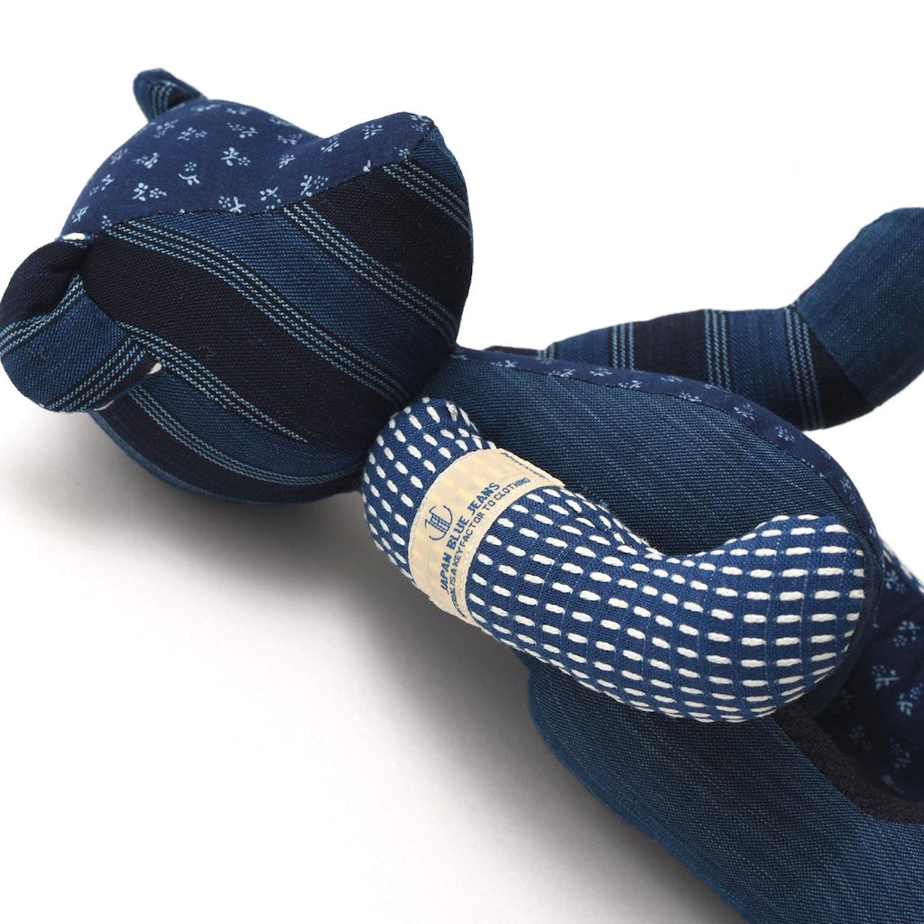 Japan Blue Indigo Sashiko Patchwork Teddy Bear